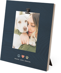 best in show peace love rescue clip photo frame