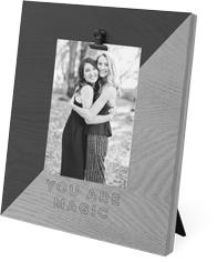 diagonal colorblock clip photo frame