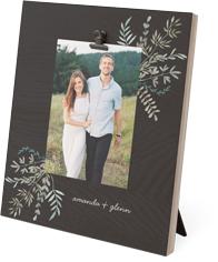 foliage corner clip photo frame