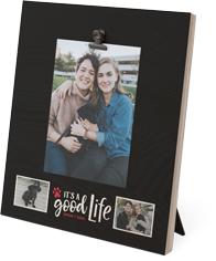 rustic good life clip photo frame