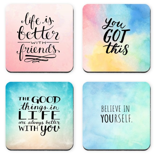 Watercolor Quotes Coaster