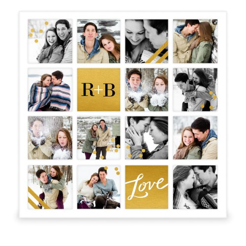 Golden Love 16 Square Collage Frame Collage Picture Frames