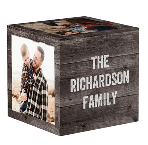Weathered Wood 4x4 Photo Cube