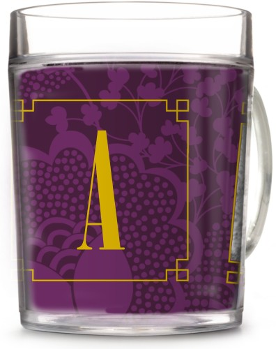 Dotted Florals Cup, 12oz Cup, Purple