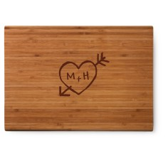 carved heart cutting board