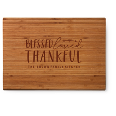 blessed loved thankful cutting board