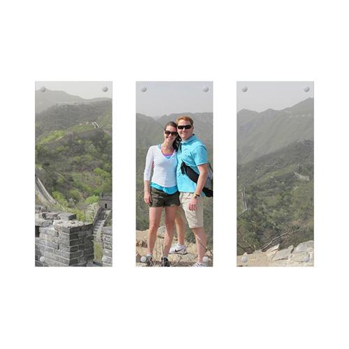 Three Panoramic 10x24 Acrylic Prints, Multi piece, Multicolor