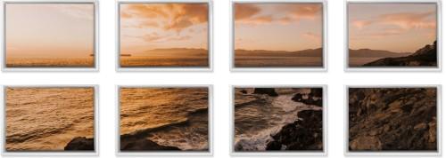 Symmetrical Eight Spread Canvas Prints Multicolor