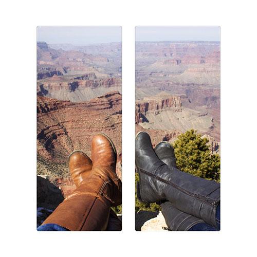 Two Panoramic 10x24 Spread Metal Prints, Multi piece, True Color / Glossy, Multicolor