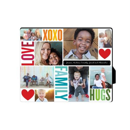 Family Love Hugs Desktop Plaque