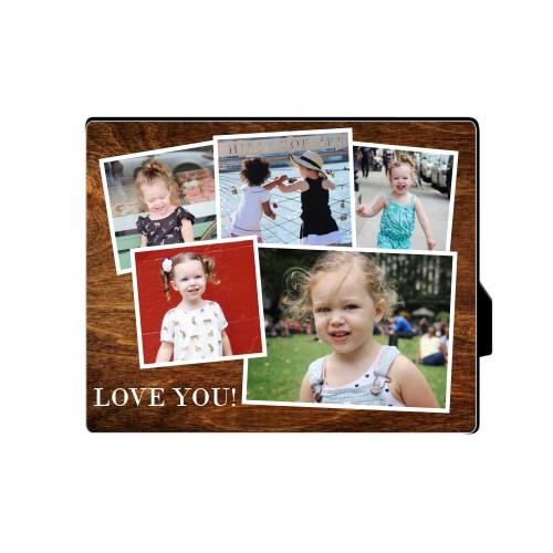 Woodgrain Montage Desktop Plaque, Rectangle, 8 x 10 inches, Brown