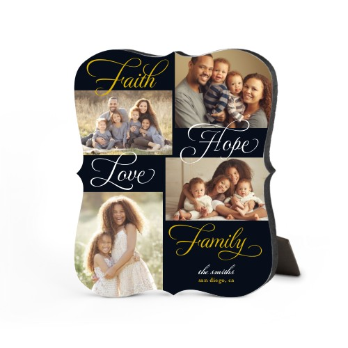 Faith And Family Desktop Plaque, Bracket, 8 x 10 inches, DynamicColor