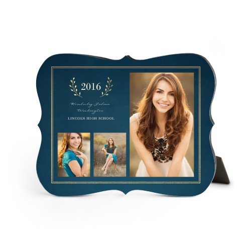 Graduation Celebration Desktop Plaque, Bracket, 8 x 10 inches, Blue