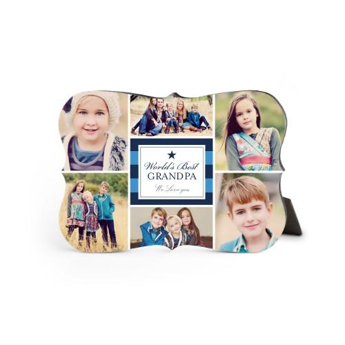 World's Best Stripe Collage Desktop Plaque, Bracket, 5 x 7 inches, DynamicColor