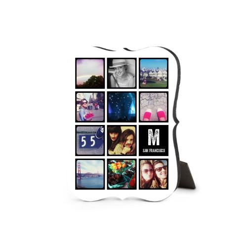 Pictogram Vertical Desktop Plaque, Bracket, 5 x 7 inches, Black