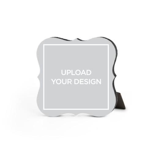 Upload Your Own Design Desktop Plaque, Bracket, 5 x 5 inches, Multicolor