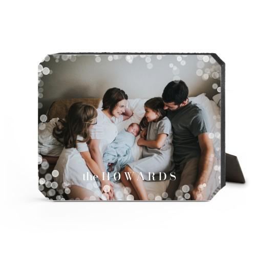 Bokeh Frame Desktop Plaque, Ticket, 8 x 10 inches, White