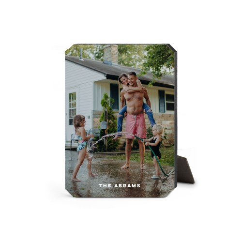 Photo Gallery Vertical Desktop Plaque, Ticket, 5 x 7 inches, White