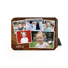 woodgrain montage desktop plaque