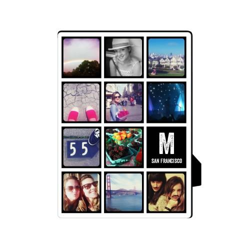 Pictogram Vertical Desktop Plaque, Rectangle, 5 x 7 inches, Black