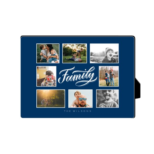 Family All Around Collage Desktop Plaque, Rectangle, 5 x 7 inches, Blue