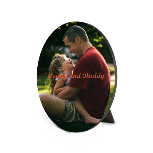 Photo Gallery Oval Desktop Plaque, Oval, 6 x 8.5 inches, Multicolor