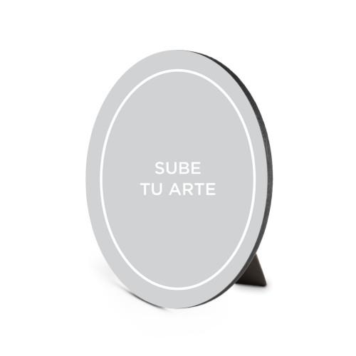 Sube Tu Arte Portrait Oval Desktop Plaque, Oval, 6 x 8.5 inches, Multicolor