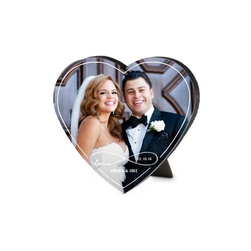Love Infinity Outline Heart-Shaped Desktop Plaque