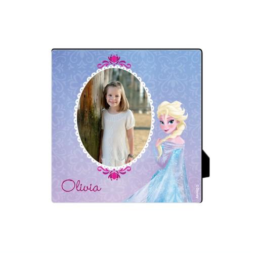 Disney Frozen Elsa Desktop Plaque, Rectangle, 5 x 5 inches, Purple