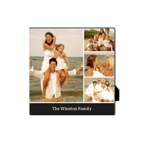 Simply Family Desktop Plaque, Rectangle, 5 x 5 inches, Black