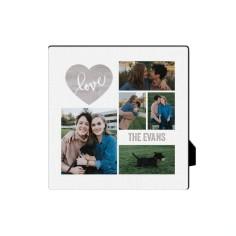love wood collage desktop plaque