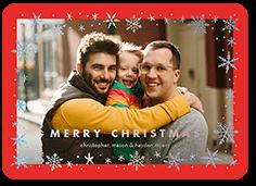 gleaming flake frame christmas card