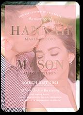 divine elegance wedding invitation