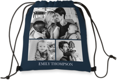 gallery of three drawstring backpack