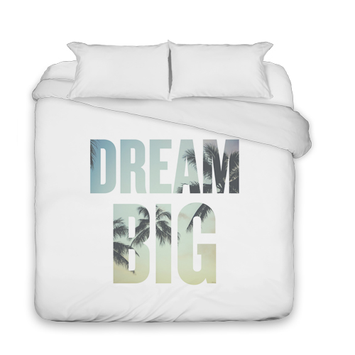 Dream Big Duvet Cover, Duvet, Duvet Cover w/ White Back, King, White