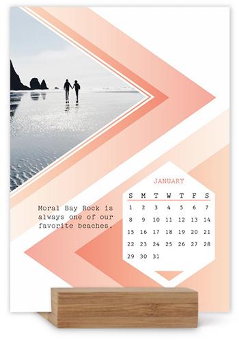 Modern Geo Easel Calendar