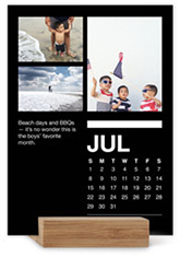 classic black and white portrait easel calendar