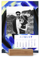 painterly pop easel calendar