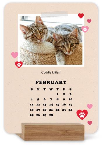 A Purrfect Year Easel Calendar