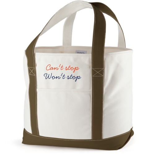 Can't Stop Won't Stop Canvas Tote Bag