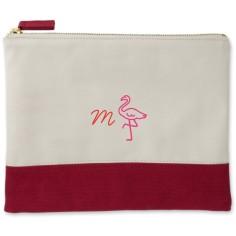 flamingo canvas pouch