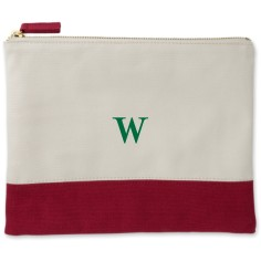 big initial canvas pouch
