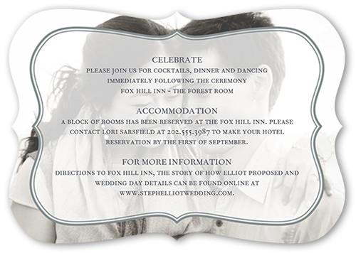 Bordered Euphoria Wedding Enclosure Card