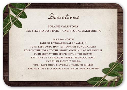 Ingrained Love Wedding Enclosure Card