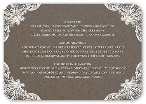 Charming Details Wedding Enclosure Card