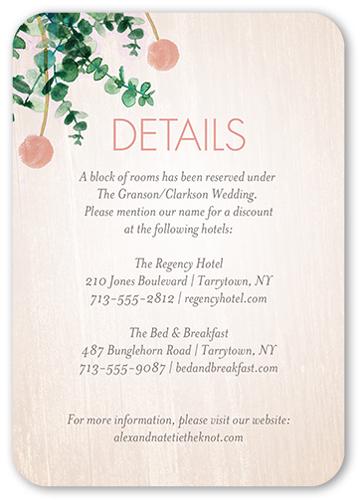 Lovely Floral Wedding Enclosure Card