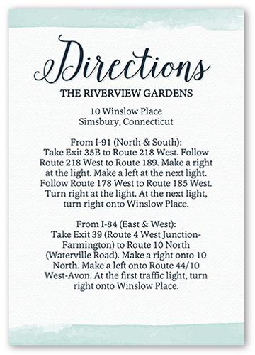 Classic Watercolor Border Wedding Enclosure Card, Square