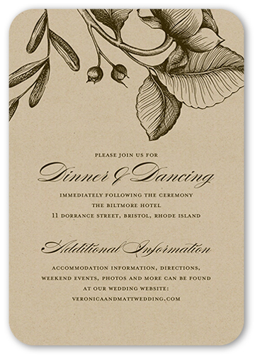 Rustic And Floral Wedding Enclosure Card