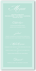 picture perfect couple wedding menu
