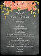 chalkboard floral wedding menu